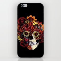Full circle...Floral ohm skull iPhone & iPod Skin