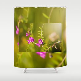 green branched tendrils of Vicia Shower Curtain