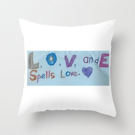 Sami's Art (age 7) Throw Pillow