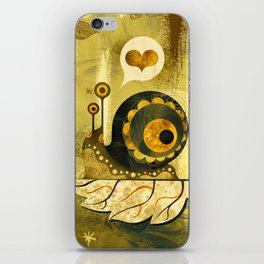 The Enamored Snail iPhone Skin