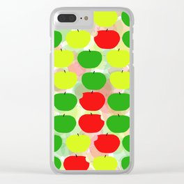 Summer Apple Picking Green, Red and Yellow Clear iPhone Case