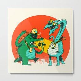 Kaiju Rap Battle Metal Print