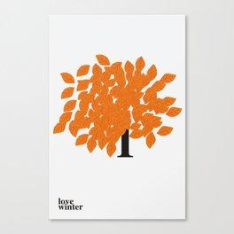 I Love Winter #society6 #decor #buyart Canvas Print