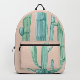 Besties Cactus Friends Turquoise + Coral Backpack