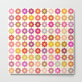 Multicolored floral pattern Metal Print