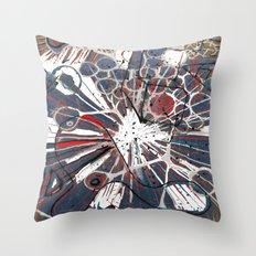 Abstract Duck Face Throw Pillow