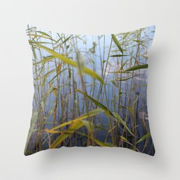 Bed of reeds Throw Pillow