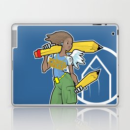 Pencil Warrioress Laptop & iPad Skin