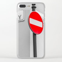 Stop! Clear iPhone Case