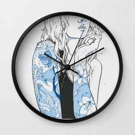art nouveau woman Wall Clock