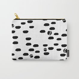 Dalmation Spots with Skulls Carry-All Pouch