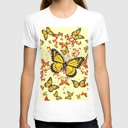 YELLOW & ORANGE MONARCH BUTTERFLIES DANCE T-shirt