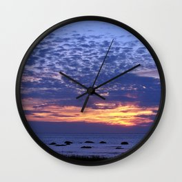 Flaming Clouds Wall Clock
