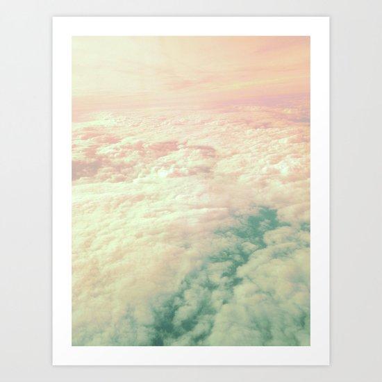 Raindbow Clouds Art Print