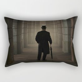 Title  Evening Walk In The Archway Rectangular Pillow