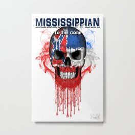 To The Core Collection: Mississippi Metal Print