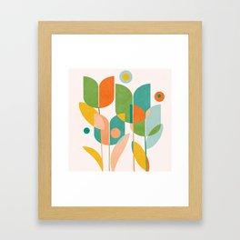 floral shapes IV Framed Art Print