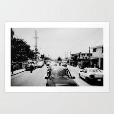 Downtown Haiti  - Kodak BW400CN Art Print