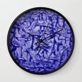 Blue Waves and Ripples Textured Wavelet Paint Art Wall Clock