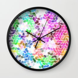 Colored Pattern, Colorful Life Wall Clock