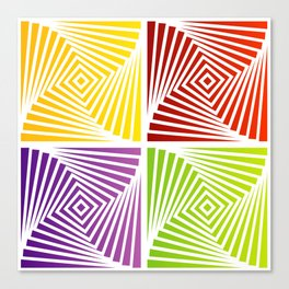 Colorful Squares twirling from the Center. Optical Illusion of PerspectiveColorful Squares twirling Canvas Print