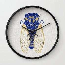 Cicada – Navy & Gold Wall Clock