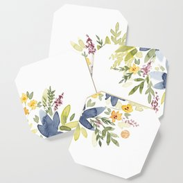 Watercolor Floral Bouquet Coaster