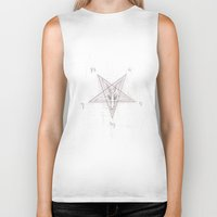 pentagram Biker Tanks featuring Pentagram by instantgaram