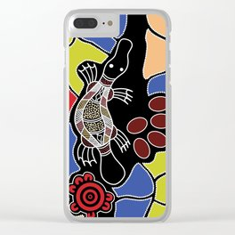 Authentic Aboriginal Art – Platypus Dreaming Clear iPhone Case