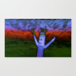 Bend - Glitch Canvas Print