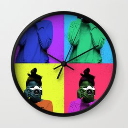 The Warhol Affect Wall Clock