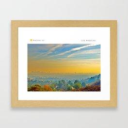Pantone: Los Angeles Framed Art Print