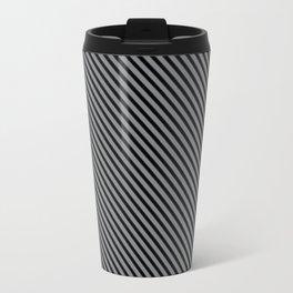 Sharkskin and Black Stripe Travel Mug