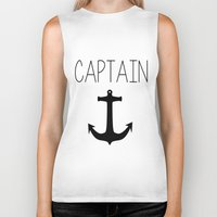captain Biker Tanks featuring Captain by Nicolekay