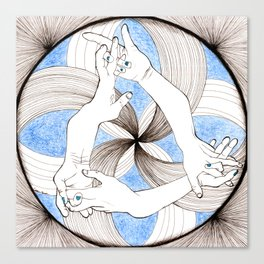 Hand Mandala Canvas Print