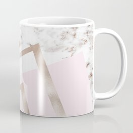 Geometric marble - luxe rose gold edition I Coffee Mug