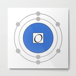 Oxygen - Bohr Model Metal Print