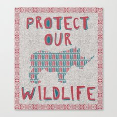 Protect Our Wildlife 23 Canvas Print