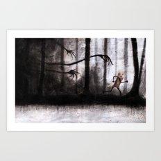 Run as fast as you can Art Print
