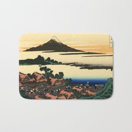 "Hokusai (1760–1849) ""Dawn at Isawa in Kai Province"" Bath Mat"