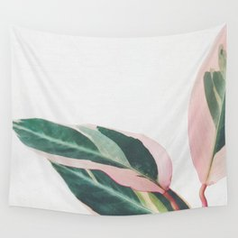 Pink Leaves II Wall Tapestry