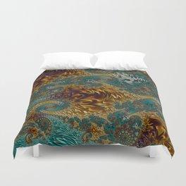 Marigold Garden - Fractal Art Duvet Cover