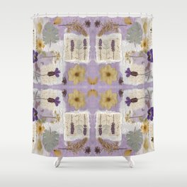 Lavender Collage Shower Curtain