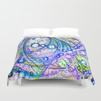 pisces Duvet Covers featuring Pisces by HillaryFrye