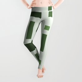Pattern of Squares in Green Leggings
