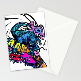 Dinosaur Wipe-Out Stationery Cards