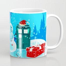 Tardis With Snow Ball Gift Christmas Coffee Mug