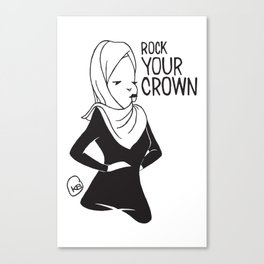Rock Your Crown Logo (HiJabi Version) Canvas Print