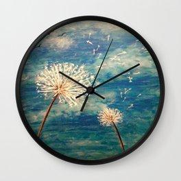 Dandelion Dreamer Wall Clock