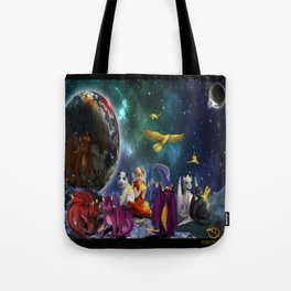Dragonlings Space Party Tote Bag